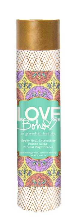 Blame it on your wild heart and untamed soul, but you are one bold beauty boss! Feed your inner karma with this daring tanning intensifier that will leave your skin saturated in color. Featuring powerful peptides that pump up your bronze and minerals that nurture your skin, so you can live free and easy, Love Boho™ style. Run wild retro rocker, because it's the time of the season for gorgeous, golden color!